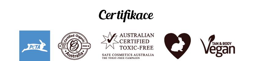 Eco by Sonya certifikace 100% přírodní