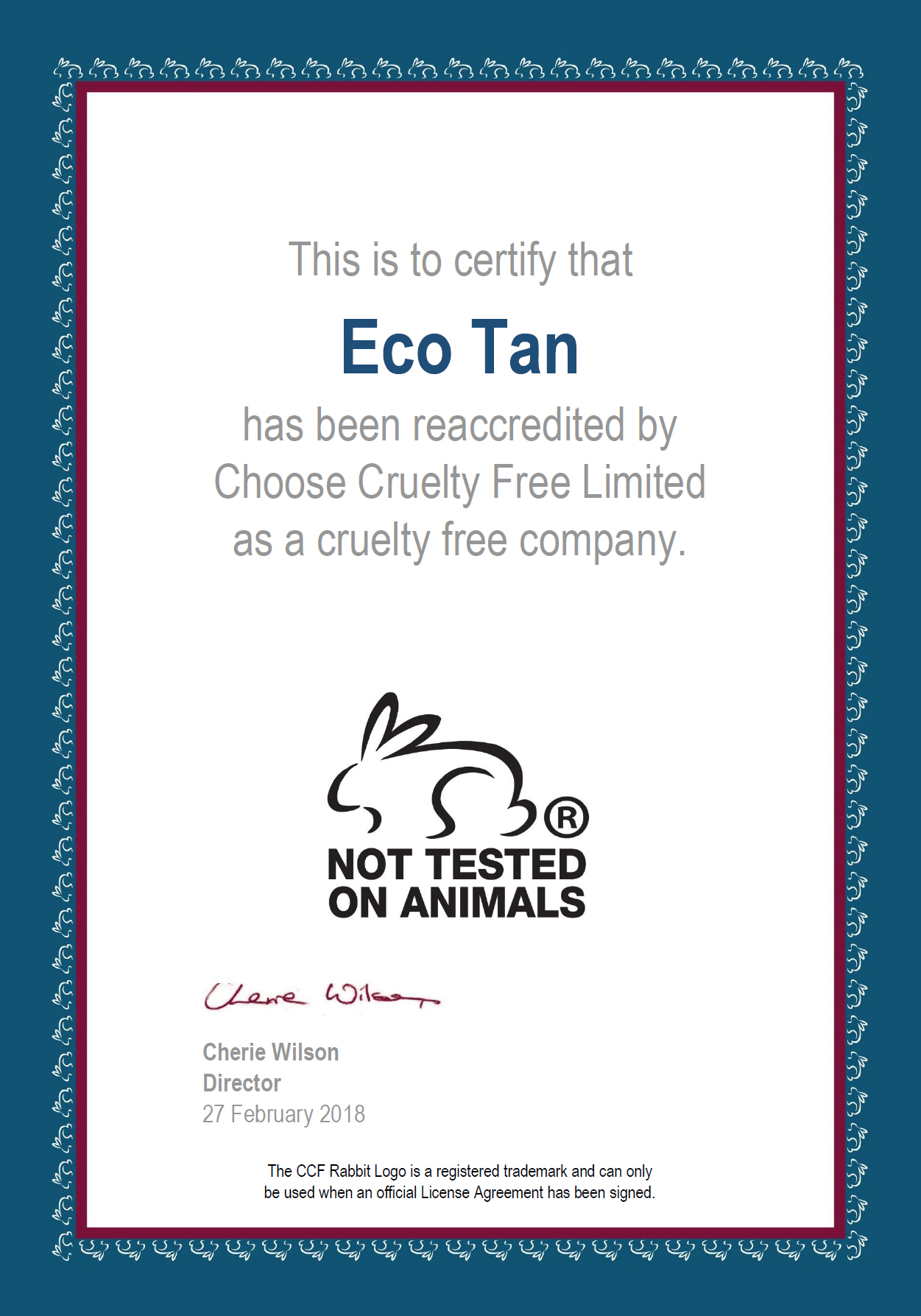 Choose Cruelty Free (CCF)